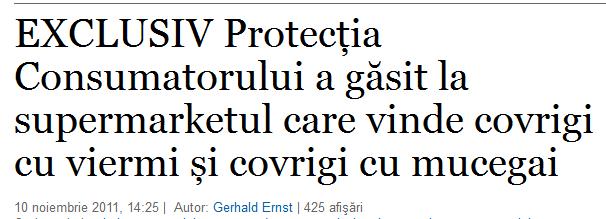 Titlul unui articol de pe www.adevarul.ro
