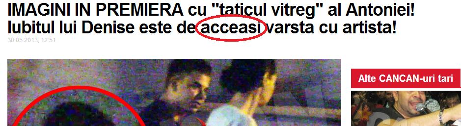 Titlul unui articol www.cancan.ro