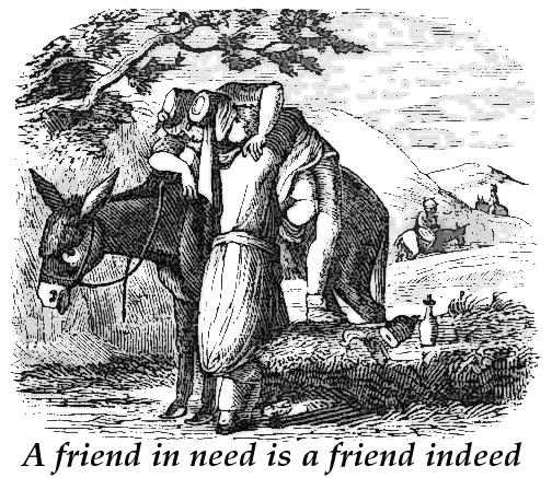 Prietenul la nevoie se cunoaște Sursa: wpclipart.com