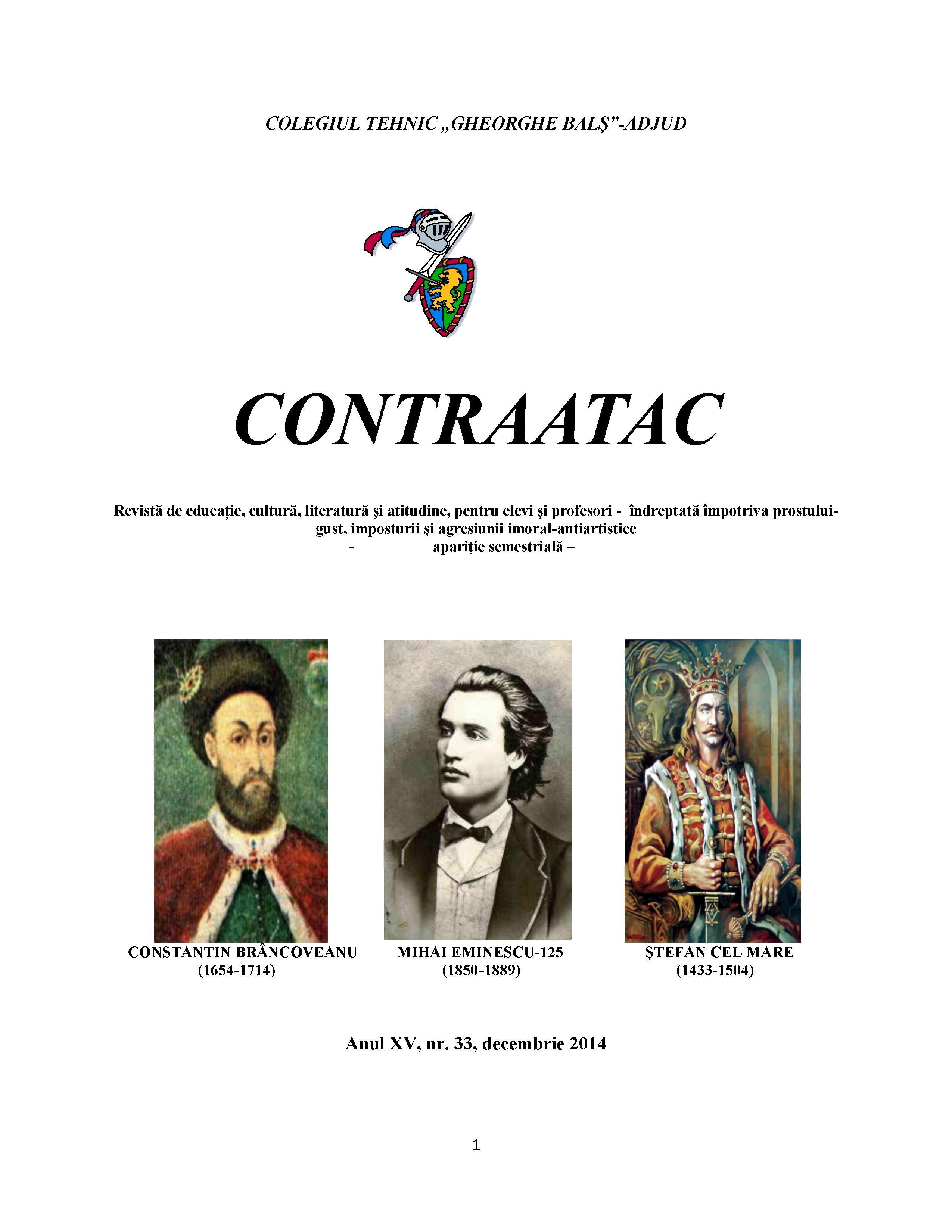 """Revista """"Contraatac"""" Sursa: revistacontraatac.wordpress.com"""