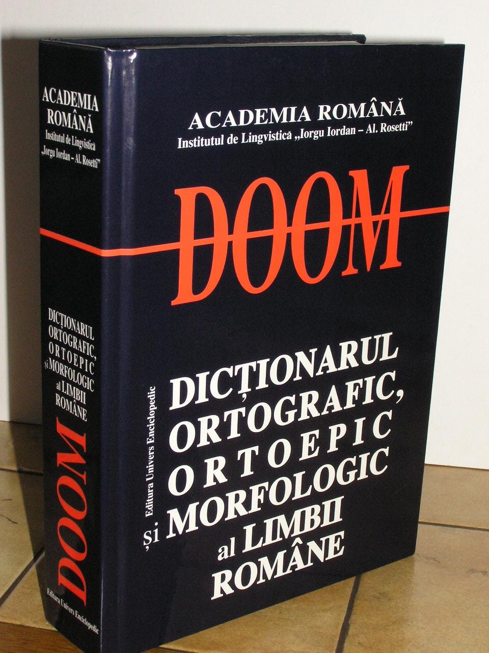 DOOM - Dicționarul ortografic, ortoepic și morfologic al limbii române